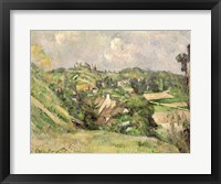 Framed Auvers-sur-Oise, seen from the Val Harme