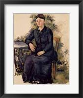 Framed Madame Cezanne in the Garden