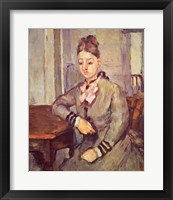 Framed Madame Cezanne Leaning on a Table