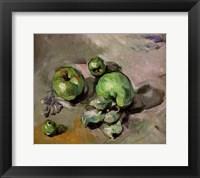 Framed Green Apples