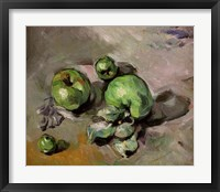 Framed Green Apples