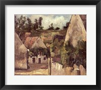 Framed Crossroads at the Rue Remy, Auvers, c.1872