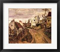 Framed Village Road, Auvers, c.1872-73