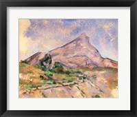 Framed Mont Sainte-Victoire, 1897-98