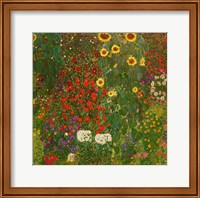 Framed Farm Garden with Flowers