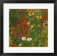 Framed Farm Garden with Flowers