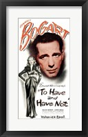 Framed To Have & Have Not (movie poster)