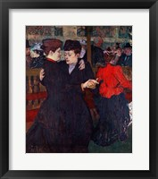 Framed At the Moulin Rouge: The Two Waltzers, 1892
