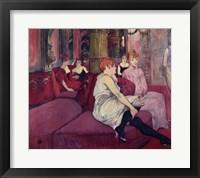 Framed In the Salon at the Rue des Moulins, 1894