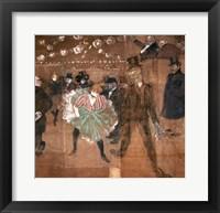 Framed Dancing at the Moulin Rouge: La Goulue