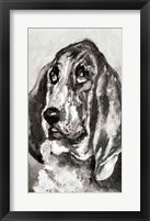 Framed Head of a Dog Running, 1880