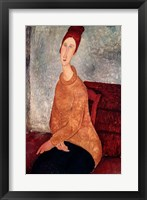 Framed Jeanne Hebuterne in a Yellow Jumper, 1918-19