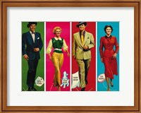 Framed Guys and Dolls Characters