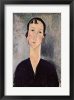 Framed Woman with Earrings