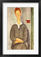 Framed Young boy with red hair, 1906