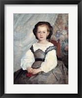 Portrait of Mademoiselle Romaine Lacaux, 1864 Framed Print
