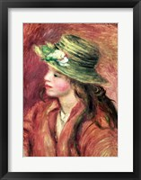 Framed Young Girl in a Straw Hat