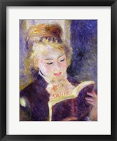 Girl Reading, 1874 Framed Print