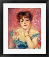 Framed Portrait of the actress Jeanne Samary, 1877