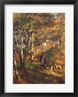 Framed Jules Le Coeur in the Forest of Fontainebleau, 1866