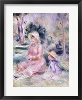 Framed Madame Renoir and her son Pierre, 1890