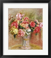 Framed Roses in a Sevres vase