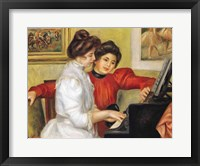 Framed Yvonne and Christine Lerolle at the piano, 1897
