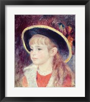 Framed Portrait of a Young Girl in a Blue Hat, 1881