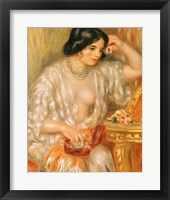 Framed Gabrielle with Jewellery, 1910