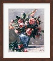 Framed Vase of Roses