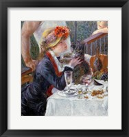 Framed Luncheon of the Boating Party, 1881 - close up