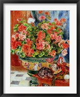 Framed Geraniums and Cats, 1881