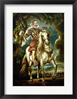Framed Equestrian portrait of the Duke of Lerma