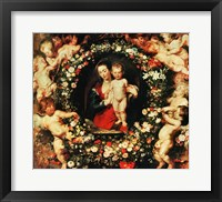 Framed Virgin with a Garland of Flowers, c.1618-20