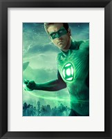 Framed Green Lantern - Light up