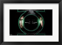Framed Green Lantern - symbol
