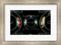 Framed Green Lantern - faces