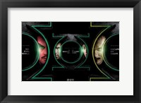 Framed Green Lantern - faces