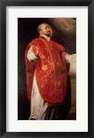 Framed St. Ignatius of Loyola