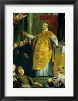 Framed Vision of St. Ignatius of Loyola
