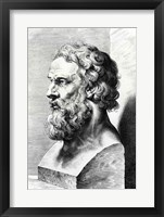 Framed Bust of Plato