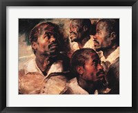 Framed Studies of the Head of a Negro
