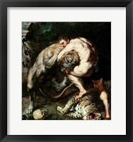 Framed Hercules Fighting the Nemean Lion