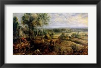 Framed Autumn Landscape with a view of Het Steen in the Early Morning