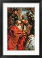 Framed Adoration of the Magi - red garment