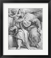 Framed Prophet Ezekiel, after Michangelo Buonarroti