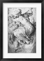 Framed Libyan Sibyl, after Michangelo Buonarroti