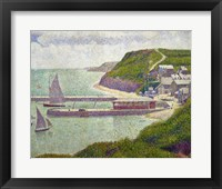 Framed Harbour at Port-en-Bessin at High Tide, 1888