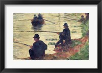 Framed Anglers, Study for 'La Grande Jatte', 1883