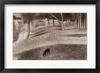 Framed Study for Sunday Afternoon on the Island of La Grande Jatte (dog detail)